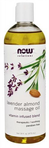 NOW: Lavender Almond Massage Oil 16 fl. oz.