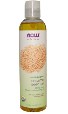 NOW: ORGANIC SESAME SEED OIL 8 OZ
