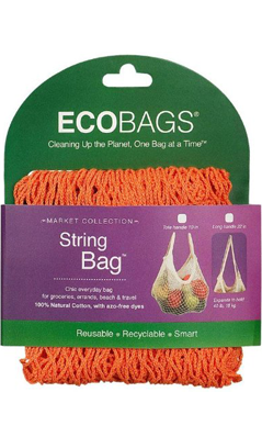 ECO-BAGS PRODUCTS: String Bag Tote Handle Natural Cotton Mango 1 bag