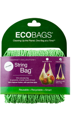 ECO-BAGS PRODUCTS: String Bag Long Handle Natural Cotton Celery Seed 1 bag