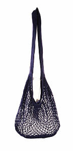 ECO-BAGS PRODUCTS: String Bag Single Handle Natural Cotton Milano Style Purple 1 bag