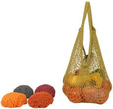 ECO-BAGS PRODUCTS: String Bags Assorted Earth Tone  Tote Handle Natural Cotton 1 ct