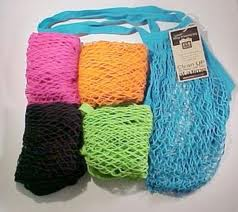 ECO-BAGS PRODUCTS: String Bags Assorted Tropicals Long Handle Natural Cotton 1 ct