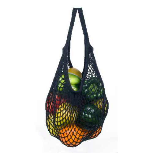 ECO-BAGS PRODUCTS: String Bags - Natural Cotton Black Tote Handle 1 bag
