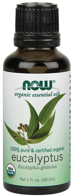 NOW: EUCALYPTUS OIL ORGANIC  1 OZ 1