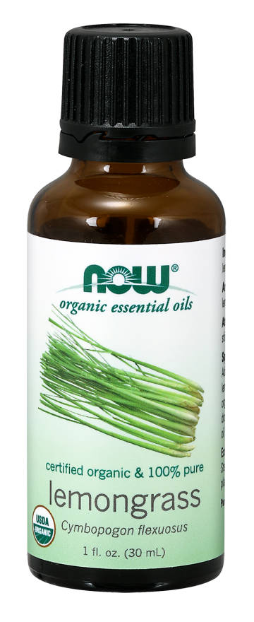 NOW: Organic Lemongrass Oil 1 fl oz