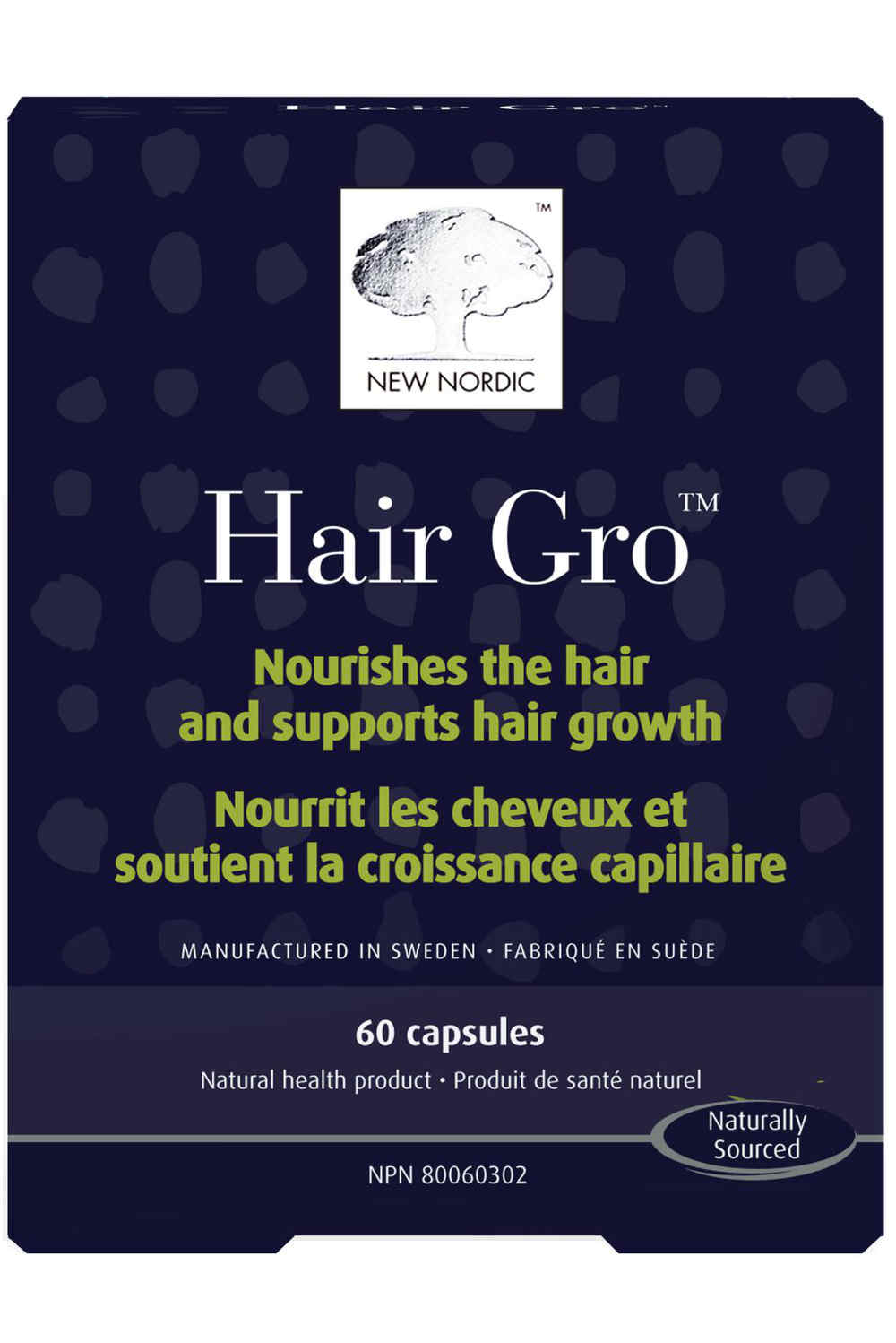 NEW NORDIC US INC: Hair Gro- Nourishes Thinning Hair and Helps Promote New Hair Growth 60 capsule