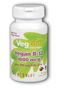 Veglife: Vegan B-12 50ct 1000mcg