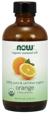 NOW: Organic Orange Oil 4 fl oz