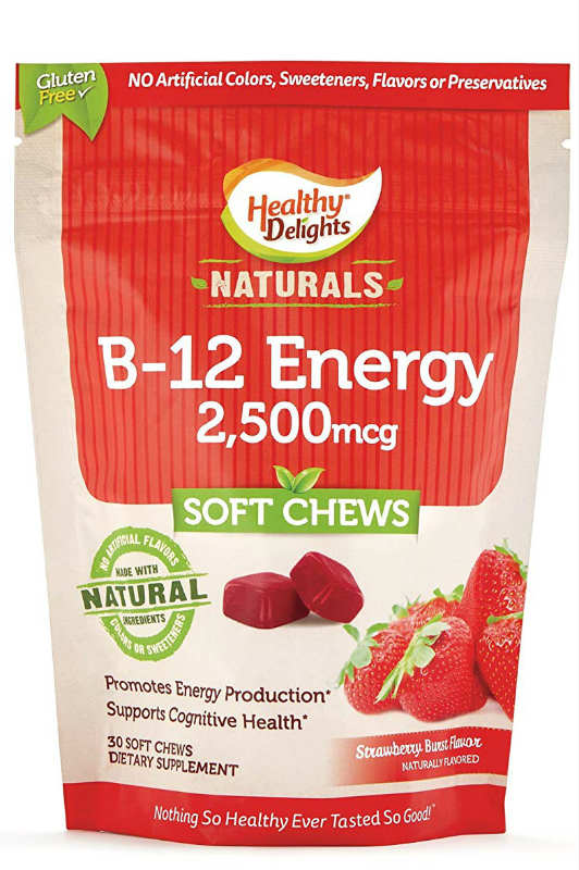 HEALTHY DELIGHTS: Healthy Delight Natural B-12 Energy 30 chew
