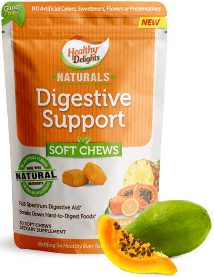 HEALTHY DELIGHTS: Healthy Delight Natural Digestive Support 30 chew