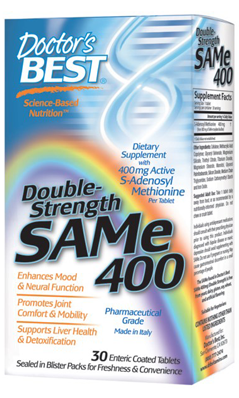 Doctors Best: SAMe 400 (Double Strength) 60T