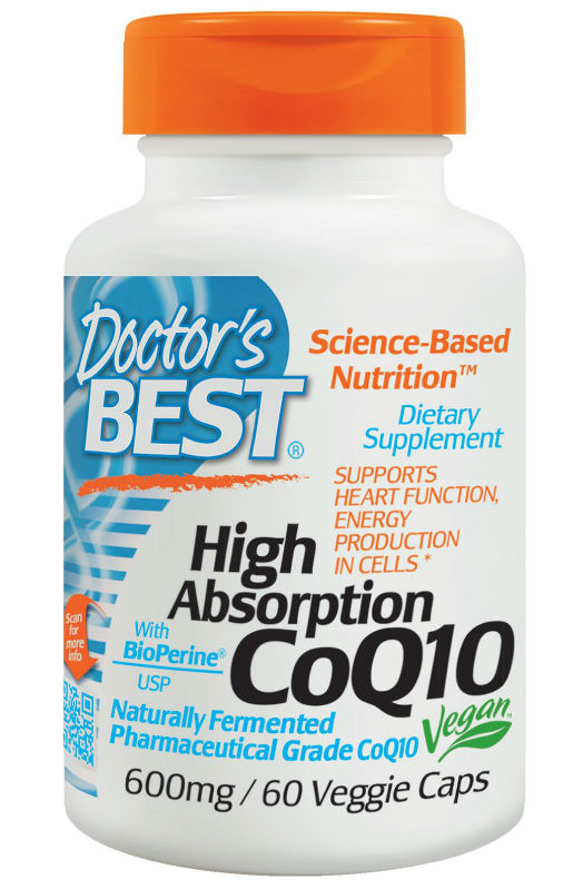 Doctors Best: High Absorption CoQ10 with BioPerine (600 mg) 60 Vegi Capsules