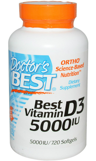 Doctors Best: Best Vitamin D3 (5000IU) 720 softgel