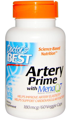Doctors Best: Artery Prime with MenaQ7 180mcg 60 Veggie Caps