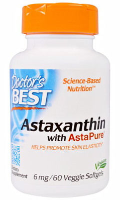 Doctors Best: Astaxanthin with AstaPure 6mg 60 Veggie Softgel