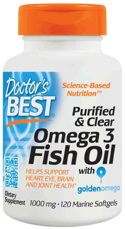 Doctors Best: Purified & Clear Omega 3 Fish Oil 120SG