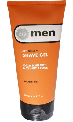 ZIA NATURAL SKINCARE: Mens ActiShield Shave Gel 5 oz