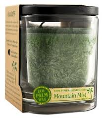 ALOHA BAY: Candle Aloha Jar Mountain Mist Dark Green 8 oz