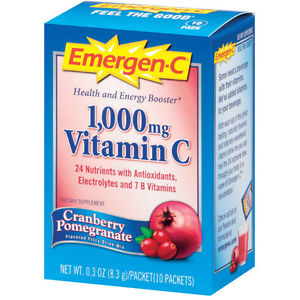 ALACER: EMERGEN-C CRANBERRY POMEGRANATE 10 PKTS