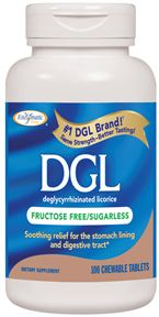 Enzymatic Therapy: DGL FF Sugarless 100 chew tabs