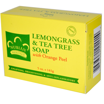 NUBIAN HERITAGE/SUNDIAL CREATIONS: Bar Soap Lemongrass and Tea Tree 5 oz