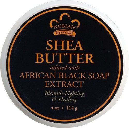 NUBIAN HERITAGE/SUNDIAL CREATIONS: Infused Butter African Black Soap 4 oz