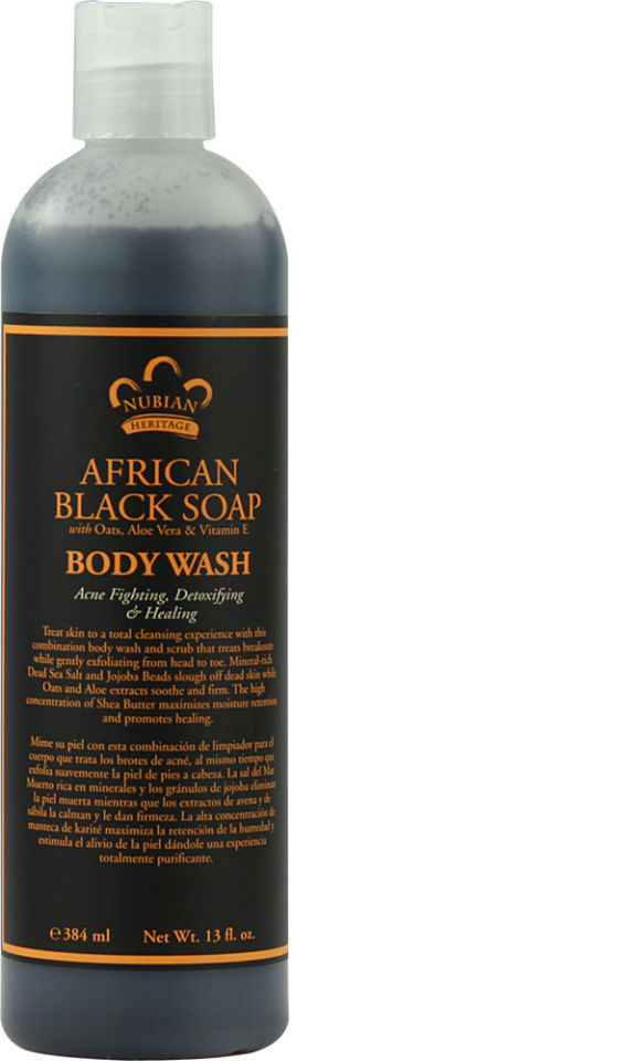 NUBIAN HERITAGE/SUNDIAL CREATIONS: Body Wash African Black Soap 13 oz