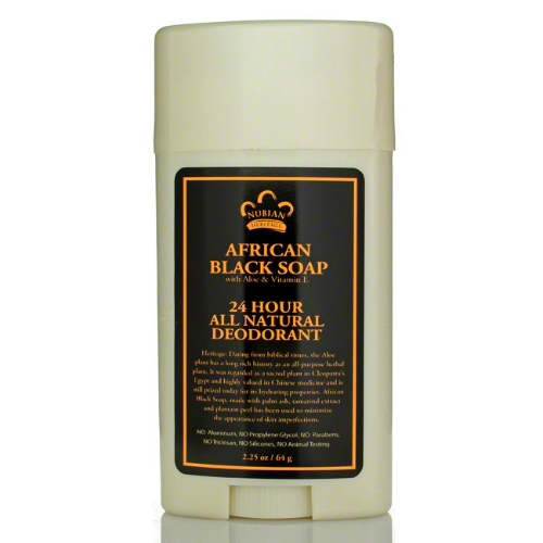 NUBIAN HERITAGE/SUNDIAL CREATIONS: Deodorant African Black Soap 2.25 oz