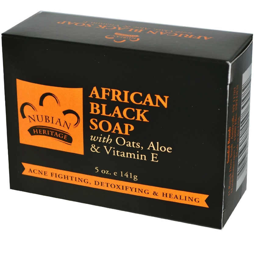 NUBIAN HERITAGE/SUNDIAL CREATIONS: African Black Soap Bar Soap 3.5 oz