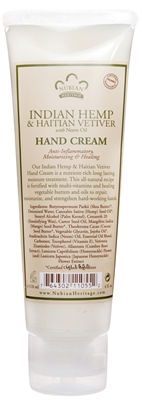 NUBIAN HERITAGE/SUNDIAL CREATIONS: Hand Cream Indian Hemp and Haitian Vetiver 4 oz