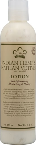 NUBIAN HERITAGE/SUNDIAL CREATIONS: Body Lotion Indian Hemp and Haitian Vetiver 13 oz