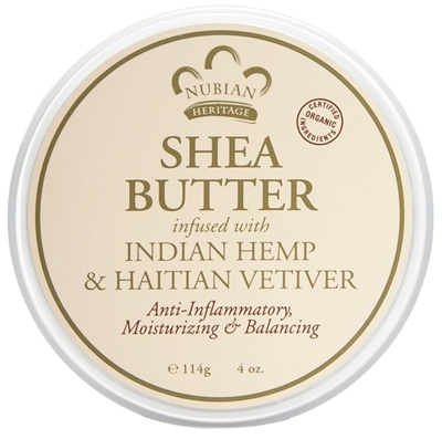 NUBIAN HERITAGE/SUNDIAL CREATIONS: Infused Butter Indian Hemp and Haitian Vetiver 4 oz