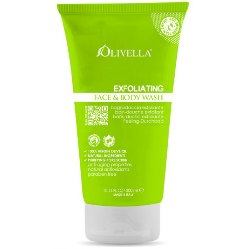 OLIVELLA: Exfoliating Face & Body Wash 10.14 oz