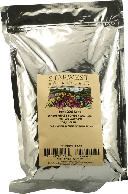 STARWEST BOTANICALS: Organic Wheatgrass Powder 1 lb