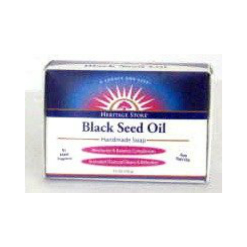 Heritage Store: Black Seed Soap (Fragrance Free) 3.5 oz Bar