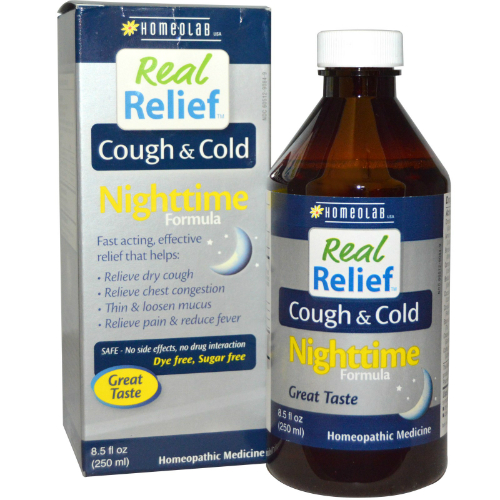 Homeolab Usa: Real Relief Cough Cold Night 8.5 oz