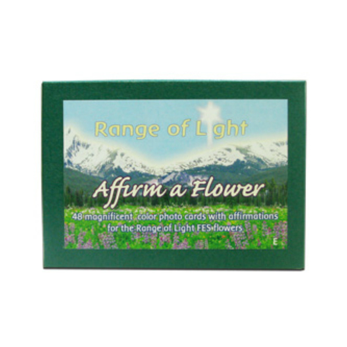 FLOWER ESSENCE SERVICES: Set of Range of Light Flower Cards -English 48 pc