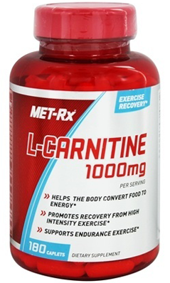 L-CARNITINE 1000 180 CAPSULES from Met-Rx USA