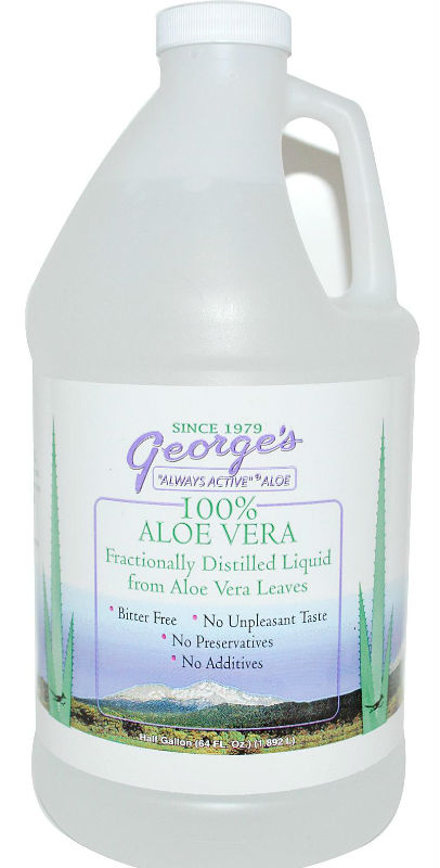 Georges Aloe Vera Juice, half gallon