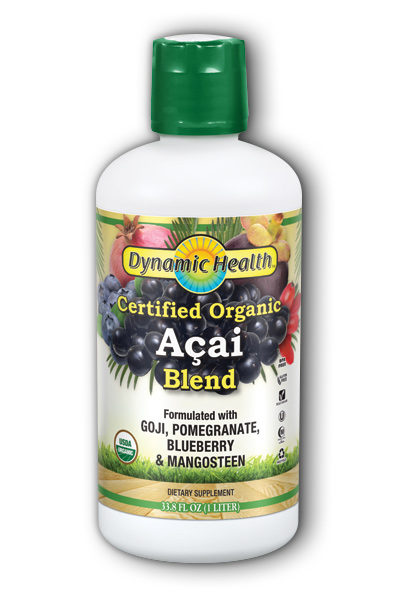 DYNAMIC HEALTH LABORATORIES INC: Organic Certified Acai Juice Blend 33.8 oz