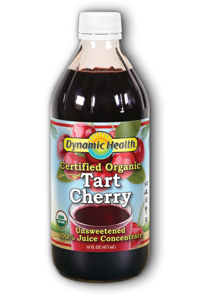 100 Percent PURE ORGANIC CERTIFIED TART CHERRY JUICE CONCENTRATE, 16OZ