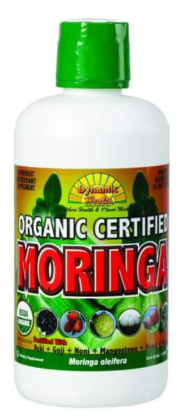 DYNAMIC HEALTH LABORATORIES INC: Organic Certified Moringa Olfeira Juice Blend 33.8 oz