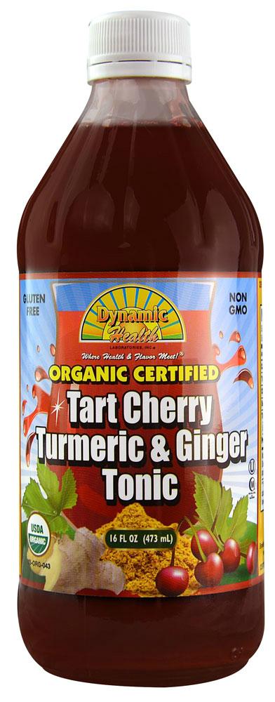 DYNAMIC HEALTH LABORATORIES INC: Tart Cherry Tumeric & Ginger Tonic 16 oz