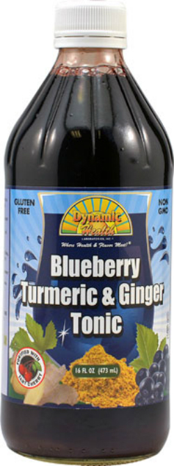 DYNAMIC HEALTH LABORATORIES INC: Blueberry Turmeric & Ginger Tonic (Plastic Bottle) 16 oz