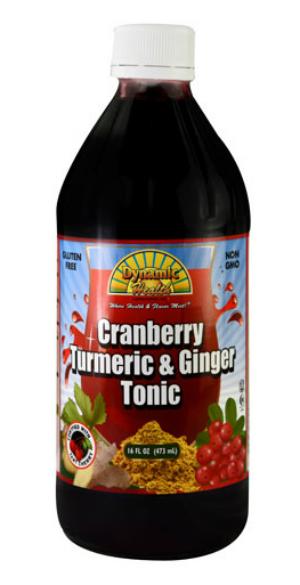 DYNAMIC HEALTH LABORATORIES INC: Cranberry Turmeric & Ginger Tonic (Plastic Bottle) 16 oz