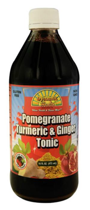 DYNAMIC HEALTH LABORATORIES INC: Pomegranate Turmeric & Ginger Tonic (Plastic Bottle) 16 oz