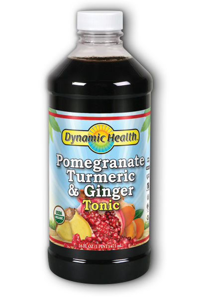 Pomegranate Turmeric & Ginger Tonic (Plastic Bottle) 16 oz from DYNAMIC HEALTH LABORATORIES INC