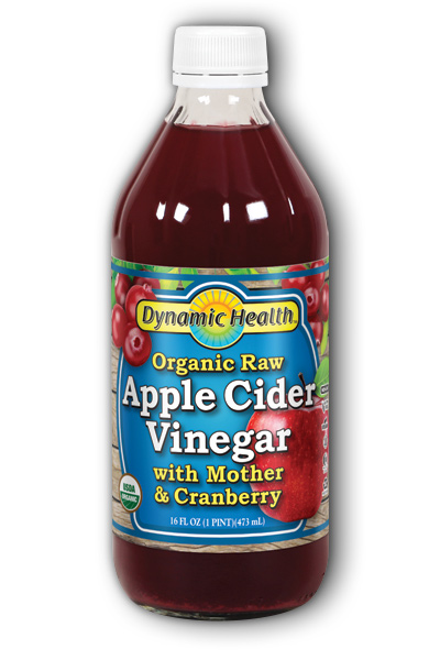 Apple Cider Vinegar with Mother & Cranberry Certified Organic