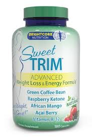 BRIGHTCORE NUTRITION: Sweet Trim Weight Loss/Energy 180 cap